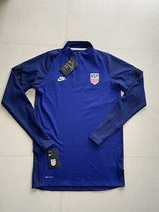 Nike Vaporknit USA Player Issue Drill Top Soccer Quarter Zip Jacket FC Olympic M
