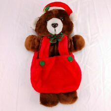 "Vintage House of LLoyd Plush Christmas Stocking Santa Bear 20"""