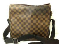 Louis Vuitton Damier Naviglio Ebene Messenger  Shoulder Crosbody Hand Bag Purse