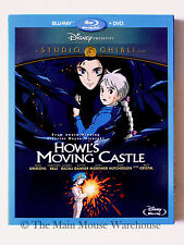 Howl's Moving Castle Blu-ray DVD Combo No Slipcover Christian Bale Billy Crystal