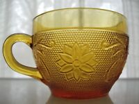 Tiara Indiana Glass Amber Sandwich 9 ounce Cup