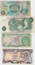 More details for four £1 banknotes from cyprus, u.k. & scotland in a used or better condition.