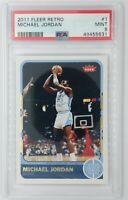 2011 11-12 Fleer Retro Michael Jordan #1, Chicago Bulls, HOF, Graded PSA 9