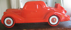 Vintage 1960s Avon Red '36 Ford 5 oz. Orland After Shave Full Glass Collectible