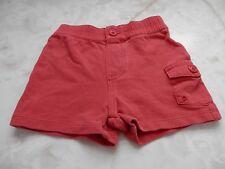 Baby Boy 6 Months Ralph Lauren Red Cargo Pocket Elastic Waistband Summer Shorts