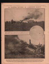 WWI Avion Aircraft Albatros Adjudant Madon France  / Macedonia 1917 ILLUSTRATION