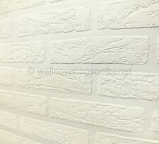 Paintable, Brick Effect, Anaglypta Style, Textured Blown Vinyl Wallpaper