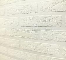 Paintable, Brick Effect, Anaglypta Style, Textured Blown Vinyl Wallpaper