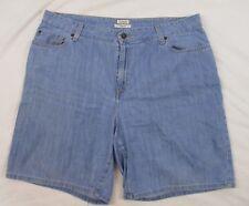 L.L. Bean Womens Classic Fit Denim Shorts Blue Jean Sz 18 Casual Summer CB87i