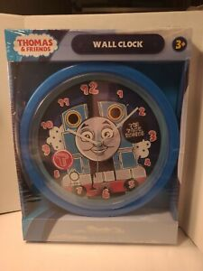 """NEW, THOMAS & FRIENDS Wall Clock Round 9.5"""", Unopened kids room trains"""