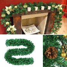 Christmas Rattan Wreath Tree Fireplace Garland Hanging Ornament Home Xmas Decor