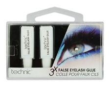 TECHNIC EYELASH GLUE 3 x Tubes CLEAR Fake False Adhesive Set Strong Sealed Lash