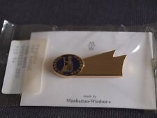 Britannia Airways Manhattan Windsor 1990's Cabin Crew 2 Wing Hat Badge - New