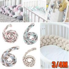 3/4M Nestchen Kopfschutz Knotenkissen Bettschlange Baby Farbe Babynestchen