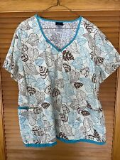 Baby Phat Patterned scrub top 2Xl
