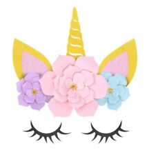 Unicorn Flower photo Backdrop Party Supplies Decorations Birthday Baby Shower