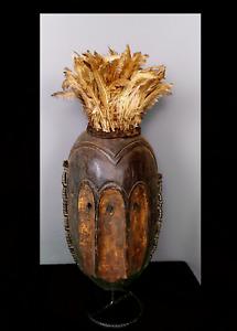 Old Tribal Lega Bwami 3 eyes  Mask    --- Congo