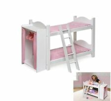 Doll Bunk Bed Loft Fits American Girl 18 Inch Dolls Furniture Ladder Closet New