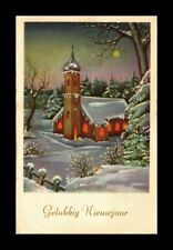 DR JIM STAMPS HAPPY NEW YEARS WINTER SCENE GREETINGS PRINTED IN HOLLAND POSTCARD