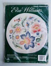 "Elsa Williams New Age Jacobean Flower Crewel Embroidery Kit #00390 12"" Round"