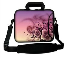 "LUXBURG 10"" Inches Design Laptop Sleeve With Shoulder Strap & handle #EG"