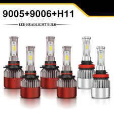 Red 9005 9006 H11 LED Headlight + Fog Bulbs for Corolla 2009-2013 RAV4 2006-2012