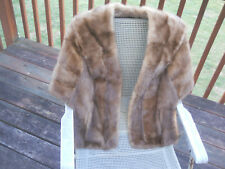 Vintage Real HAZEL MINK Collared Cape/Stole/Shawl