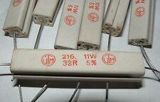 pack of 10 32R 11W wirewound resistors VTM type 216 32r 33R
