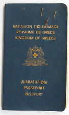 Greece 1972 Travel Document Passport for Woman Many Greek & Yugoslavia Revenues