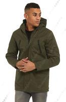 NEW Men Outwear Parka Coat Mid Jacket Hooded Mac Overcoat Black Size S M L XL
