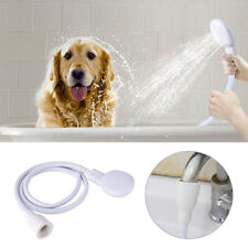 Pet Dog Single Tap Sink Bath Shower Head Washing Holder Attachment Hose Spray