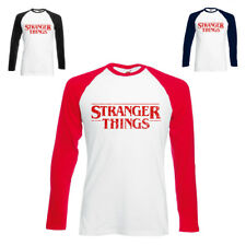 Stranger Things Long sleeve T-Shirt Inspired Unofficial Baseball Tee Retro TV