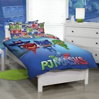PJ Mask Quilt Single Cover Set Catboy, Owlette and Gekko Superheroes Of The City
