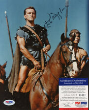 KIRK DOUGLAS SIGNED AUTOGRAPHED COLOR SPARTACUS 8/10 PHOTO RARE PSA DNA!!!!!