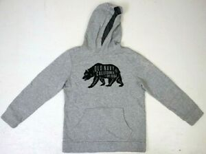 Old Navy Youth Hoodie L Lare 10-12 Gray California Bear Golden State Pocket