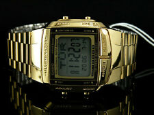 Casio Mens Digital Data Bank Gold Plated Steel Casio Db-360g-9a orologio montre