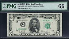 $5 1950D San Francisco FRN. PMG 66 EPQ. Near Top Pop.