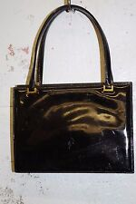 S LAUNER Luxury Handcrafted Patent Leather Bag ENGLAND Vintage