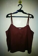 MAPLE FEEL SUEDE-LIKED FABRIC CROPPED TOP TAG SIZE M