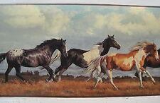 "HORSES APPALOOSAS PAINTS OLD WEST Wallpaper Border 10"""
