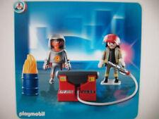PLAYMOBIL 5943 Fire hazmat toxic hero rescue pumper flames toy SET NEW SEALED
