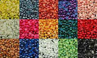 Selection of 7mm Half Pearl Beads Flat Back 300pcs - 15 Colors to choose from