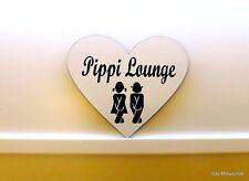 Pippi Lounge,Gravur,Türschild,7 x 6 cm,Toilettenschild,Klo,Schild,Damen,Herren