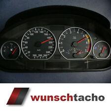 Tachoscheibe für Tacho BMW E46 Benziner *Black Step*  300 kmh