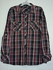 Mens Long Sleeve Shirt 100% Cotton Pockets Striped Big & Tall Size 3XL Brand New