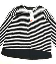 Gerry Weber Damen Shirt gestreift Pullover schwarz weiß Gr.42 UVP 45,99