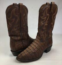 Mens Tony Lama Cowboy Boots Royal Hornback Caiman Alligator Brown Western 11 D