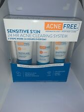 AcneFree 3 Step Acne Treatment Kit for Sensitive Skin Exp: 9/2020