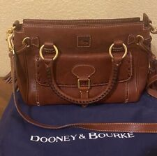 Dooney & Bourke MEDIUM POCKET FLORENTINE LEATHER SATCHEL Chestnut Brown