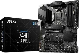 MSI Z490-A Pro Motherboard. Intel Core 10th 11th Skt 1200. Win 11. NVME. 2.5G